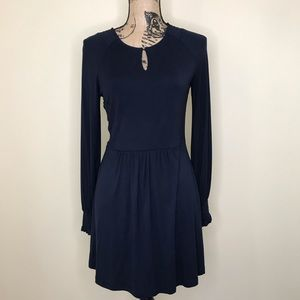 BODEN Navy Keyhole Neckline Dress (2R)